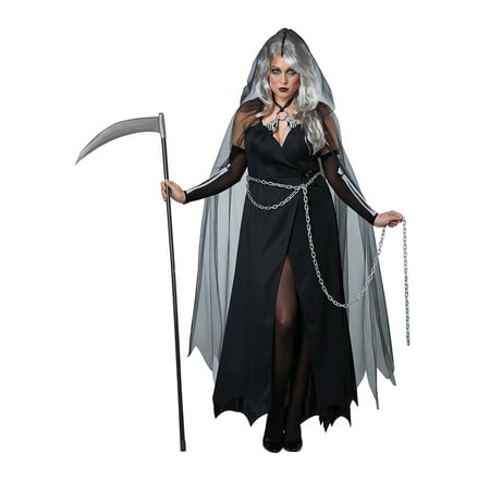 Adult Plus Size Lady Grim Reaper Costume by California Costumes (Women's Lady Reaper Costumes)