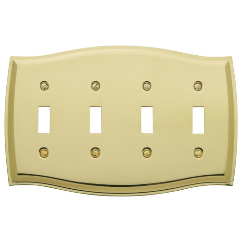 Baldwin Colonial Design Quad Toggle Switch Plate