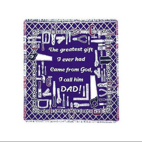 """""""Greatest Gift"""" Dad & Tools Father's Day Afghan Throw Blanket 48"""" x 60"""""""