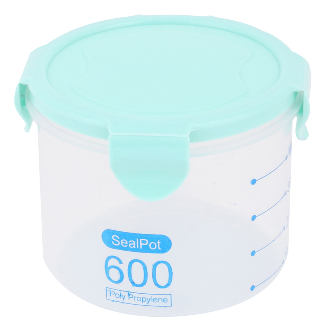 Home PP Cylinder Sealed Candy Fruit Food Storage Container Box Case Cyan 600ml - image 4 de 4
