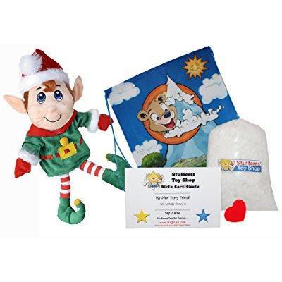 jingle the christmas elf 16 make your own stuffed animal- no sew - kit with cute backpack!