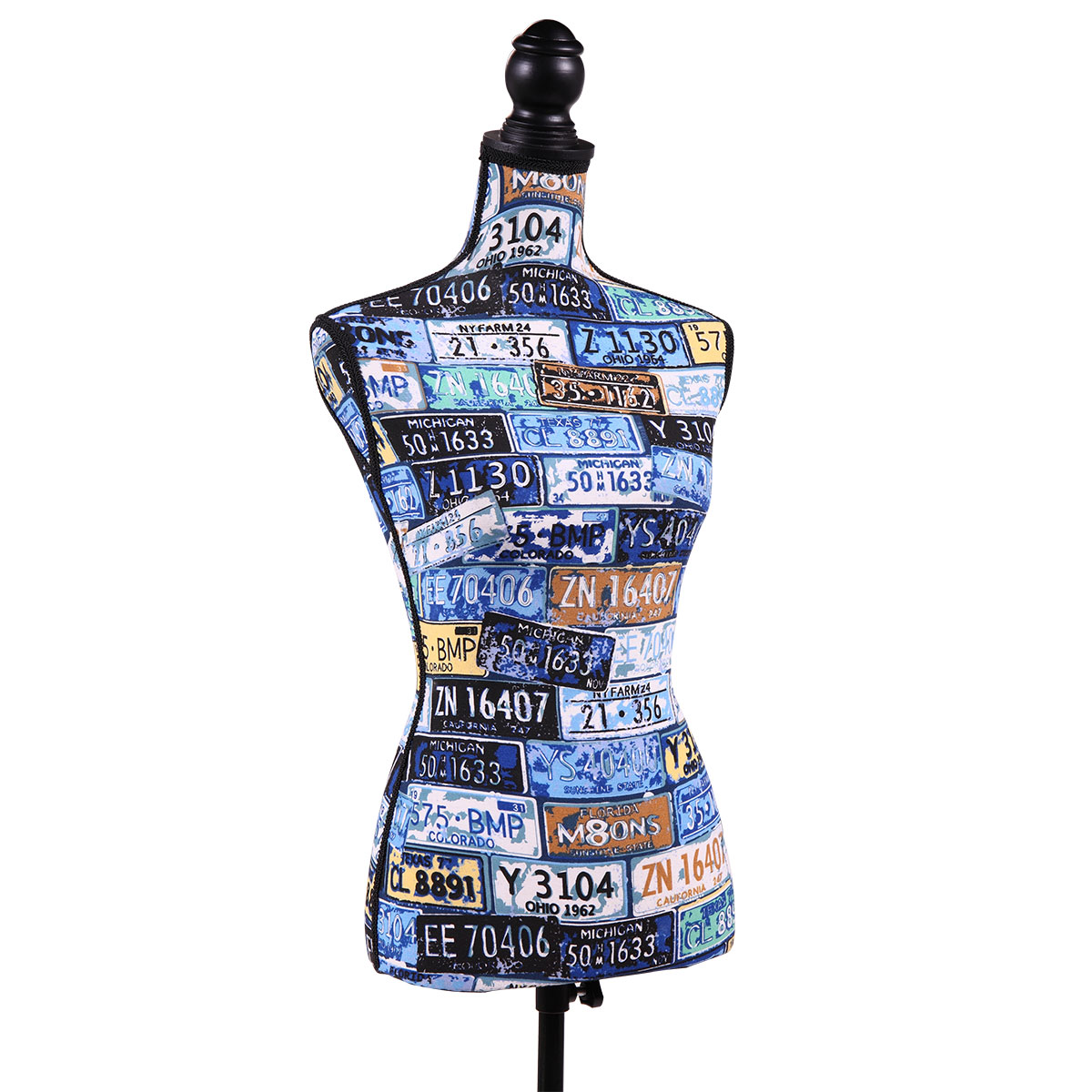 Jaxpety Blue Female Mannequin Torso Dress Clothing Form Display Sewing Mannequin W/ Tripod Stand New