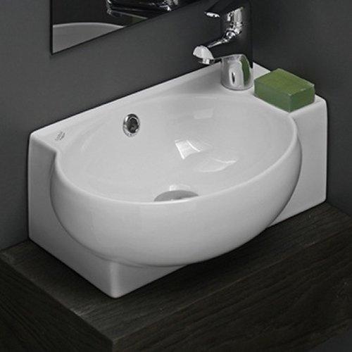 CeraStyle By Nameeks Mini Ceramic Vessel Bathroom Sink With Overflow
