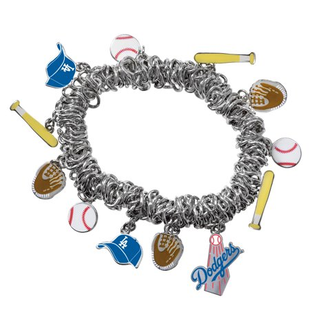 Game Time Offical MLB LOS ANGELES DODGERS Stretch Bracelet (Mlb Baseball Bracelet)