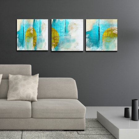 Ready2hangart Abstract 3 Piece Gallery Wrapped Canvas Wall Art Set