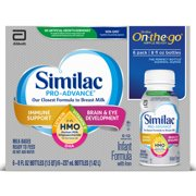 Similac Pro-Advance Infant Formula with 2'-FL Human Milk Oligosaccharide (HMO) for Immune Support, Ready to Feed, 8 fl oz bottles, 6 count