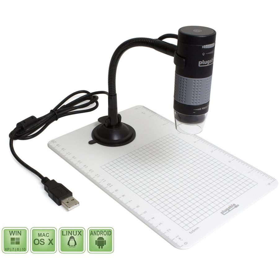 Plugable Digital USB Microscope with Observation Stand