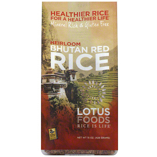 Lotus Foods Himalayan Bhutanese Red Whole Grain Rice, 15 oz (Pack of 6)