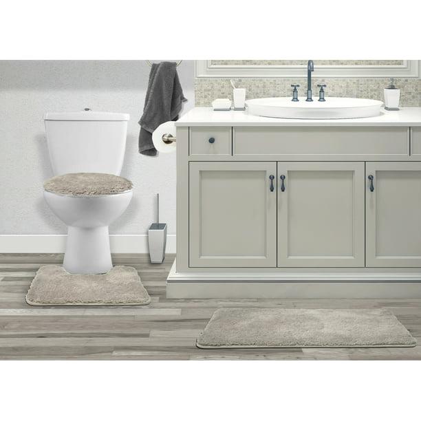 Mary 3 Piece Bathroom Rug Set Luxury