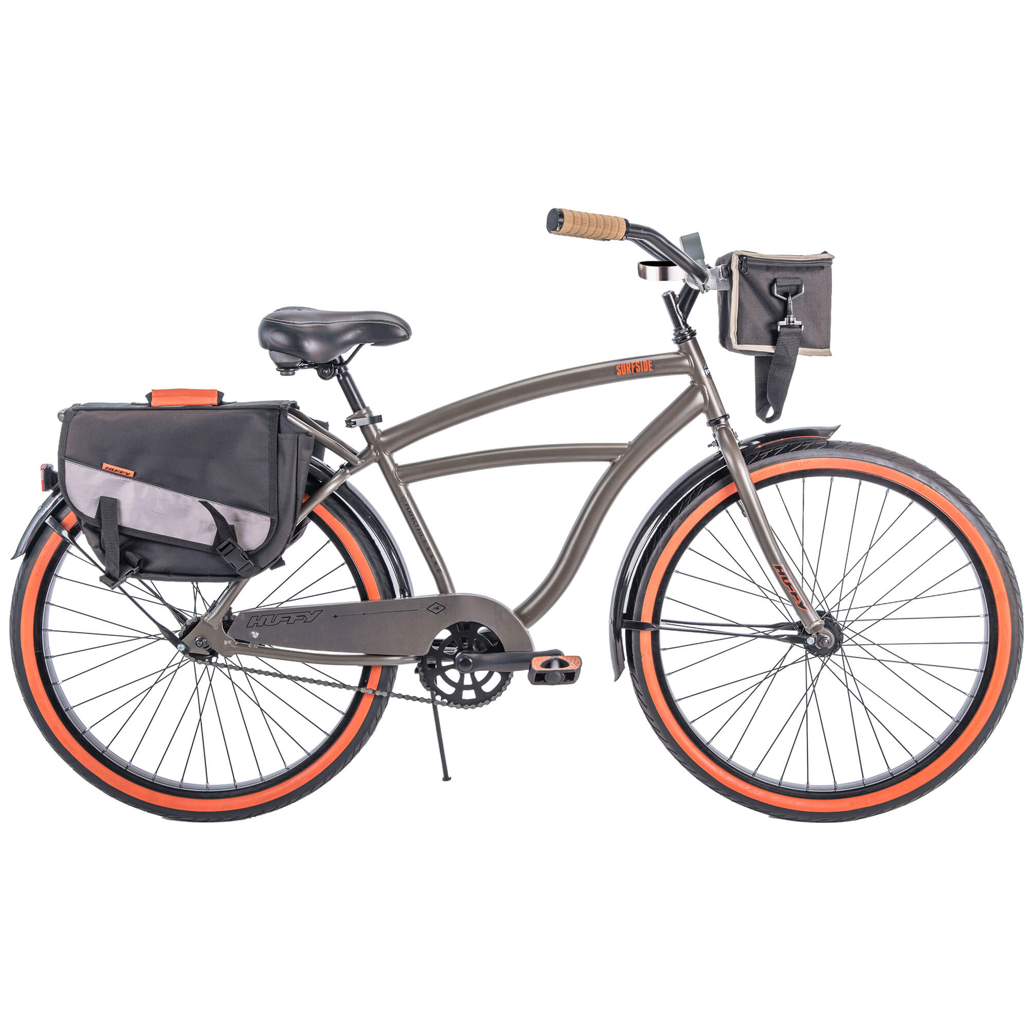"Huffy 26"" Surfside Mens Cruiser Bike with Perfect Fit Frame, Charcoal"