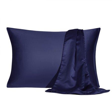 Satin Pillowcase With Zipper Queen Size Set Of 2 Silky