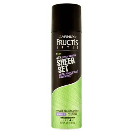 Garnier Fructis Style 48H Ultra Strong Sheer Set respirante Tenir Hairspray 9,5 oz