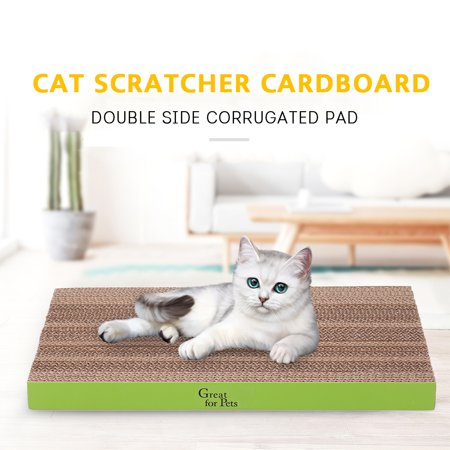 Cat Scratcher Pad Double Side Scratching Corrugated Cardboard Cat Scratch Play Toy Random Color