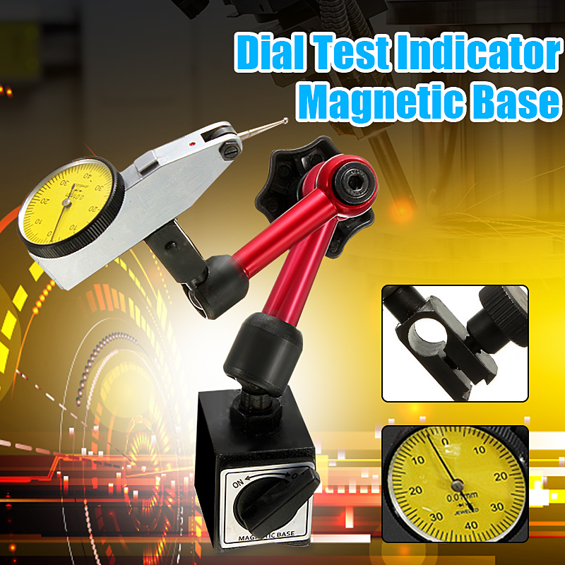 Universal Flexible Base Holder Stand With Lever Dial Test Indicator Gauge Scale