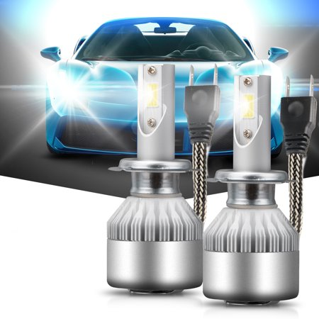 3800lm Led (TSV H7 LED Headlight Bulbs Conversion Kit 36W 6000k 3800Lm Cool White with COB chips (Pack of 2))