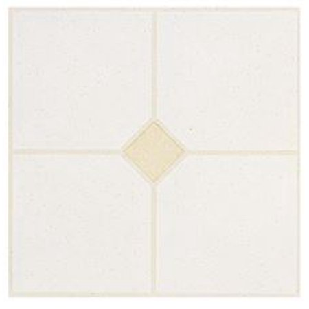 Winton Self-Adhesive Floor Tile, Gray With Sand, 12X12 In., 1.1 (33 Mexican Sand Tile)