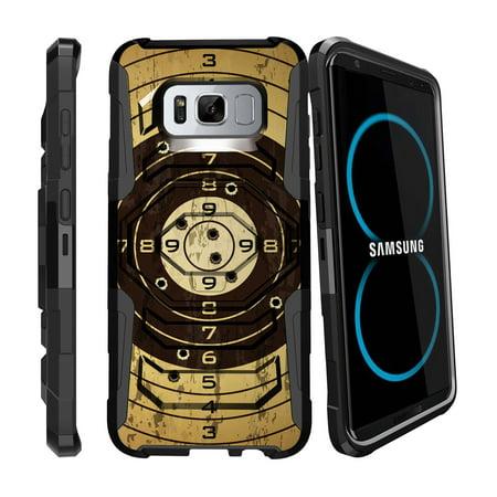 Case for Samsung Galaxy S8 | S8 Galaxy Hybrid Case [ Armor Reloaded ] Heavy Duty Case with Belt Clip & Kickstand FireArm