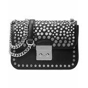 MICHAEL Michael Kors Womens Jenkins Leather Studded Shoulder Handbag