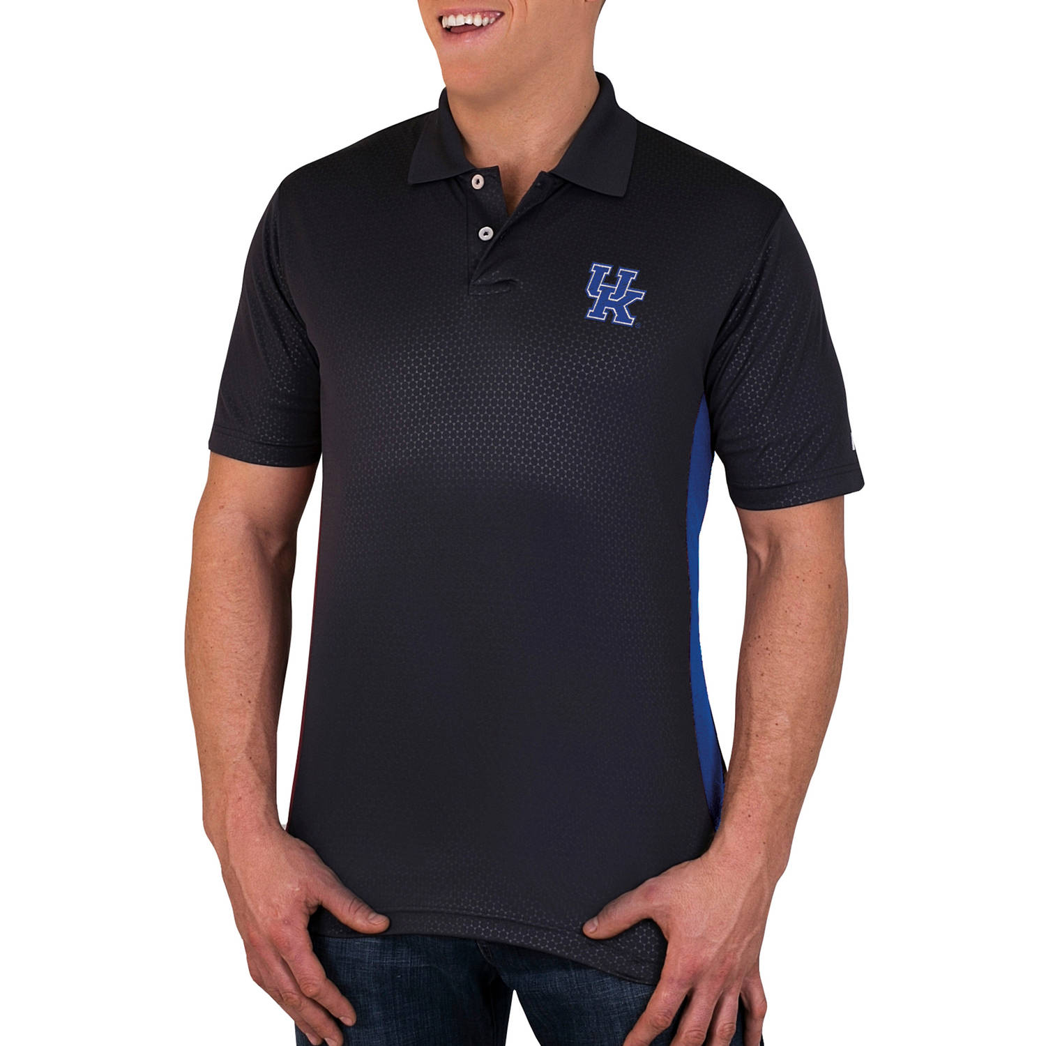 NCAA Kentucky Wildcats Men's Synthetic Embossed-Pattern Polo