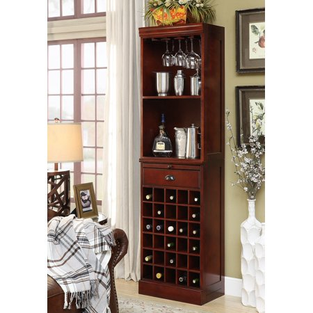 Coaster Company Modular Bar Wall Unit, Walnut