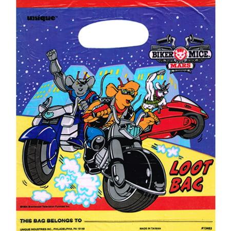 Biker Mice From Mars Vintage 1994 Favor Bags (8ct) - Biker Birthday