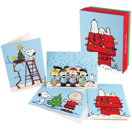 Snoopy Christmas Cards.Peanuts Snoopy And Gang Christmas Cards Xmas Holiday