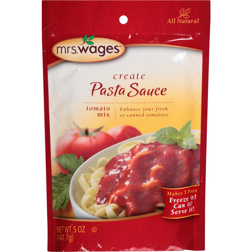 Mrs. Wages Create Tomato Mix Pasta Sauce, 5 oz, (Pack of 12)