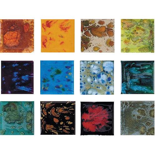 Sax True Flow Colorburst Glaze Set, Assorted Colors, Set of 12 Pints