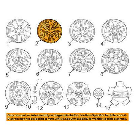 Ram CHRYSLER OEM 13-14 1500-Wheel-Alloy Aluminum 1UB12GSAAB