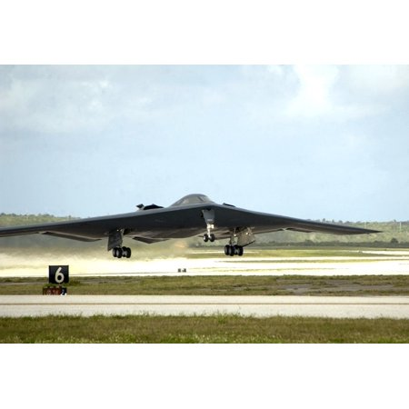 Jet Bombers - Canvas Print B-2 Takes Off Airplane Jet Military Stealth Bomber Stretched Canvas 10 x 14