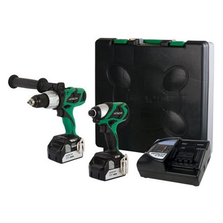 Hitachi KC18DJL HXP 18V Cordless Lithium-Ion 1/2 in. Brushless Hammer Drill and Impact Driver Combo