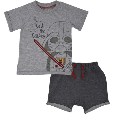 Star Wars Darth Vader Infant Baby Boys Short Sleeve T-Shirt & Shorts Set 0-3M](Star Wars Babys)