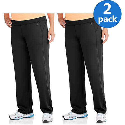 Danskin Now Women;s Plus-Size Performance Straight Leg Pant 2pk Value Bundle