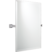 "Better Homes & Gardens Chandler 26"" H x 22"" W Square Tilt Bathroom Mirror, Chrome"