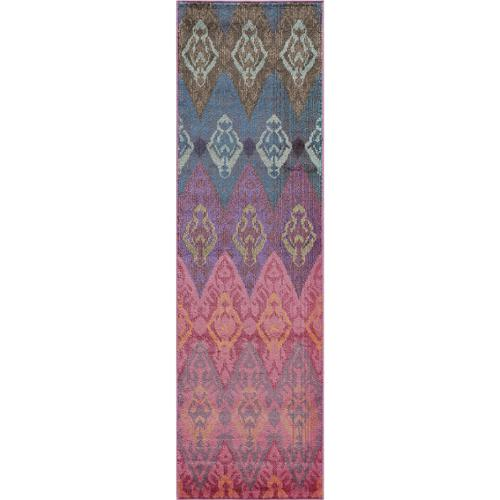 """Momeni Abode Multi Power-Loomed Graphic Rug (2'3"""" x 7'6"""") by Overstock"""