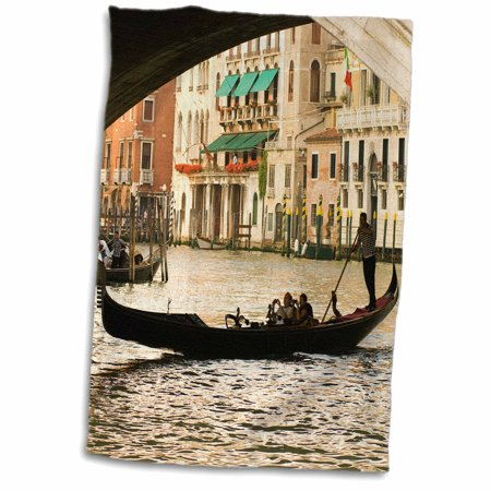 3dRose Gondola under the Rialto Bridge, Venice, Italy - EU16 DNY0011 - David Noyes - Towel, 15 by