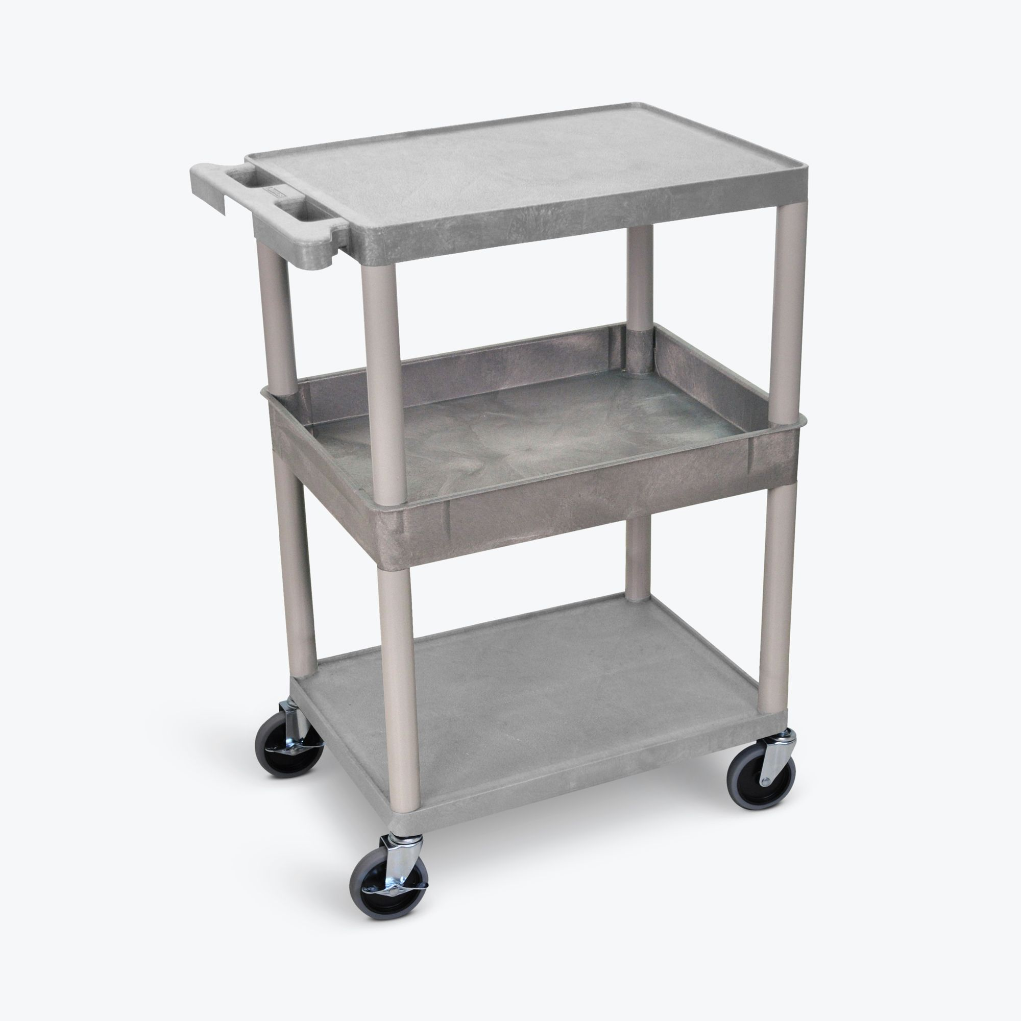Luxor Flat Top/Bottom and Tub Middle Shelf Cart