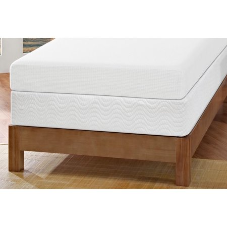 Signature Sleep Gold Inspire 6 Inch Memory Foam Mattress with CertiPUR-US certified foam & Foundation: Twin White