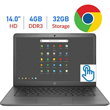 2019 Newest Flagship HP 14-inch HD SVA Touchscreen Chromebook Laptop, Intel Celeron N3350 Up to 2.4GHz 4GB DDR4 32GB eMMC