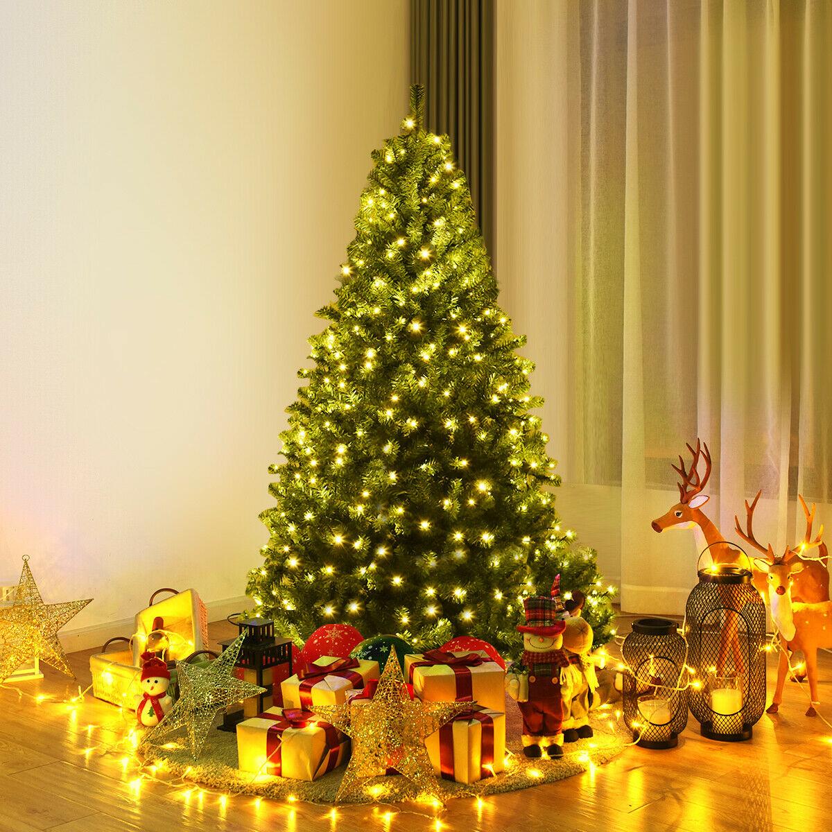 5 Pre-Lit Artificial Christmas Tree Premium Hinged w/ 150 ...