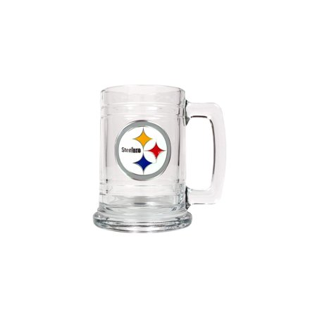 Pittsburgh Steelers 15oz Glass Tankard - Etching Personalized Gift Item
