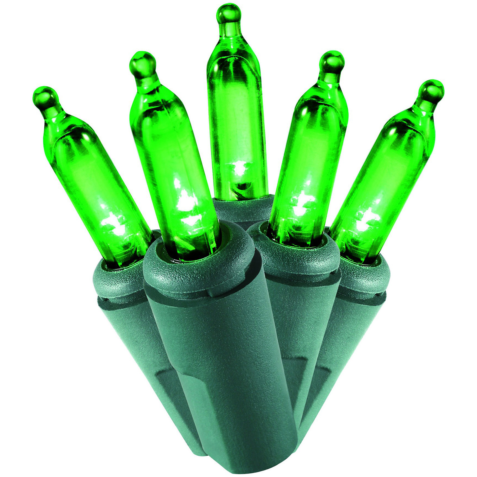 Holiday Time Christmas Lights LED Green Mini Lights, 100-Count
