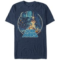 Star Wars Vintage Victory Blue T-Shirt-Small