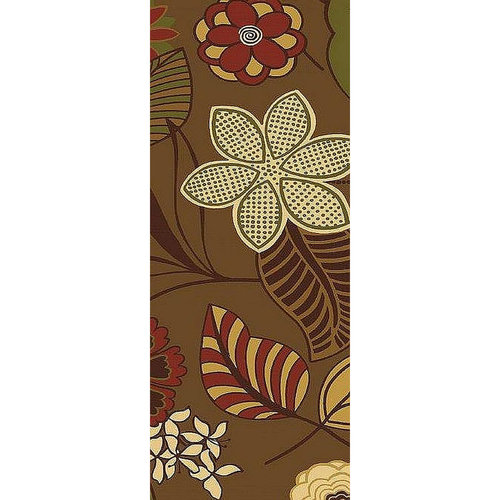 Cotton Jacquard, Chocolate Jacobean Floral