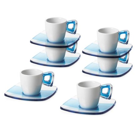 Lorren Home Trends Omada Espresso Cup And Saucer Set Of 6