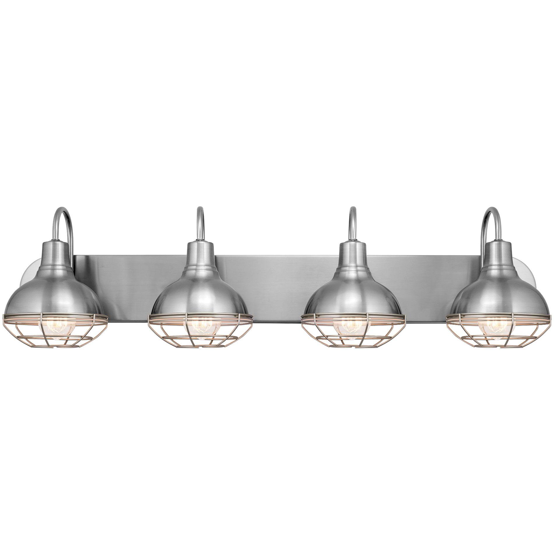 Kira Home Liberty 36 4 Light Modern, Modern Bathroom Light Fixtures Brushed Nickel
