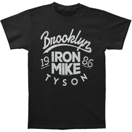 Mike Tyson Men's  Iron Mike Slim Fit T-shirt Black