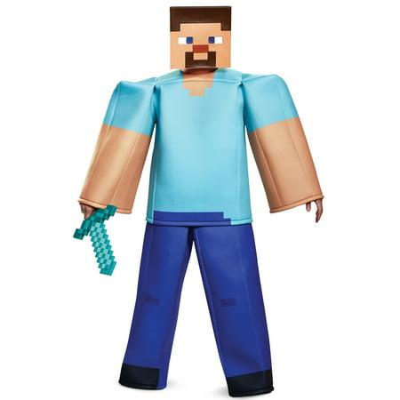 Minecraft Steve Prestige Adult Costume](Minecraft Steve Costume Head)