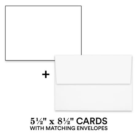 Hamilco White Cardstock Thick Paper – 5 1/2 X 8 1/2