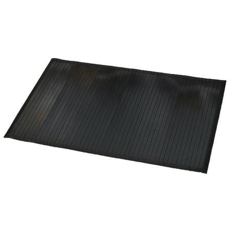 "Bamboo Rug Bathroom Mat Anti Slippery 31.5""x20"", Black"